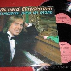 Discos de vinilo: RICHARD CLAYDERMAN CONCIERTO PARA UN OTOÑO 2LP 1981 DELPHINE EDICION ESPAÑOLA. Lote 194694847