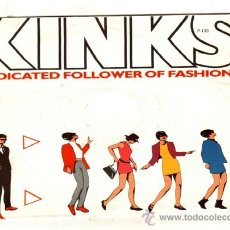 Discos de vinilo: UXV KINKS SG PROMOCIONAL ROCK DEDICATED FOLLOWER OF FASHION 45 RPM 7. Lote 25652236