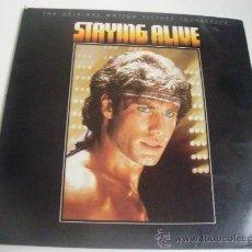Discos de vinilo: LP BANDA SONORA DE LA PELICULA STAYING ALIVE - THE BEE GEES - FRANK STALLONE - TOMMY FARAGHER. Lote 25656051
