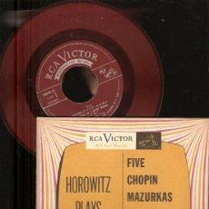 Discos de vinilo: 4 SINGLES RCA VICTOR & URANIA : WAGNER, CHOPIN, HOROWITZ, STRAUSS, BEETHOVEN, HUGO STEURER . Lote 25720212
