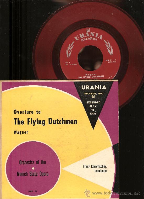 Discos de vinilo: 4 SINGLES RCA VICTOR & URANIA : WAGNER, CHOPIN, HOROWITZ, STRAUSS, BEETHOVEN, HUGO STEURER - Foto 4 - 25720212