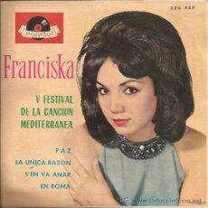 Discos de vinilo: EP-FRANCISKA-POLYDOR 220-ED.ESPAÑOLA-1963. Lote 25772956
