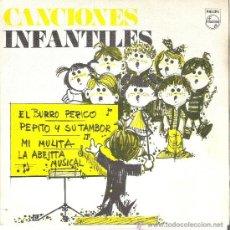 Discos de vinilo: 45 RPM - SINGLE VINILO - AÑO 1969 - CANCIONES INFANTILES - BURRO PERICO, MI MULITA (PHILIPS ) . Lote 27179249