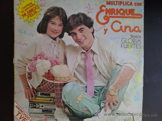 MULTIPLICA CON ENRIQUE Y ANA. TEXTOS DE GLORIA FUERTES - LP DE VINILO (Música - Discos - LPs Vinilo - Música Infantil)
