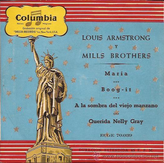 EP-LOUIS ARMSTRONG Y MILLS BROS-COLUMBIA 70039-ED.ESPAÑOLA (Música - Discos de Vinilo - EPs - Jazz, Jazz-Rock, Blues y R&B)
