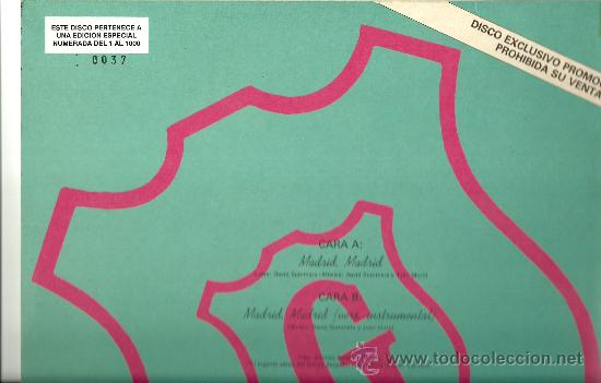 Discos de vinilo: HOMBRES G. Madrid, Madrid (vinilo-Lp -maxi-single 1990) - Foto 2 - 12869436