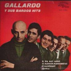 Discos de vinilo: EP-GALLARDO Y SUS BARDOS HITS-CUBALEGRE 1503-ED.ESPAÑOLA. Lote 25843142