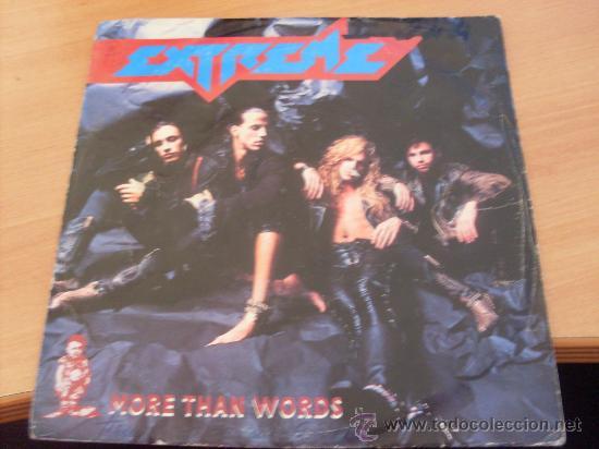 EXTREME ( MORE THAN WORDS ) 7 INCH 1991 ALEMANIA (EPI01) (Música - Discos - Singles Vinilo - Heavy - Metal)