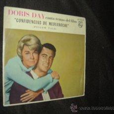 Discos de vinilo: DORIS DAY CANTA TEMAS DEL FILM EP CONFIDENCIAS DE MEDIANOCHE PHILIPS SPA. Lote 25857495