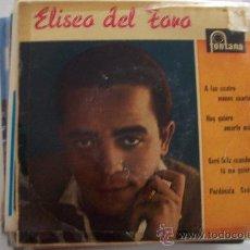 Discos de vinilo: ELISEO DEL TORO 1ª EP FONTANA. Lote 25860954