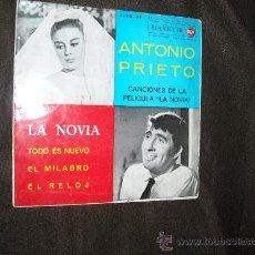 Discos de vinilo: ANTONIO PRIETO EP LA NOVIA 1962 RCA SPA CANCIONES DE LA PELICULA LA NOVIA. Lote 25862072