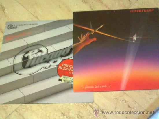 LOTE DOS LP- SUPERTRAMP / CHICAGO / (Música - Discos - LP Vinilo - Pop - Rock - Extranjero de los 70)