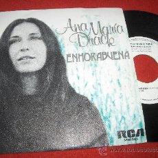 Discos de vinilo: ANA MARIA DRACK ENHORABUENA/NO PLOREM PER LA MORT 7