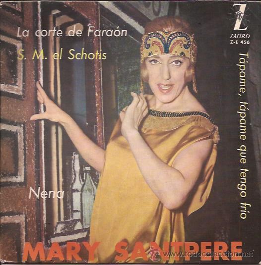 EP-MARY SANTPERE-ZAFIRO 456-LA CORTE DEL FARAON (Música - Discos de Vinilo - EPs - Bandas Sonoras y Actores)