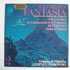 Discos de vinilo: FANTASIA. BANDA SONORA ORIGINAL DE LA PELICULA. WALT DISNEY.. Lote 27594236