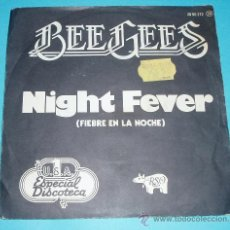 Discos de vinilo: CARÁTULA BEE GEES. NIGHT FEVER. . Lote 25939797
