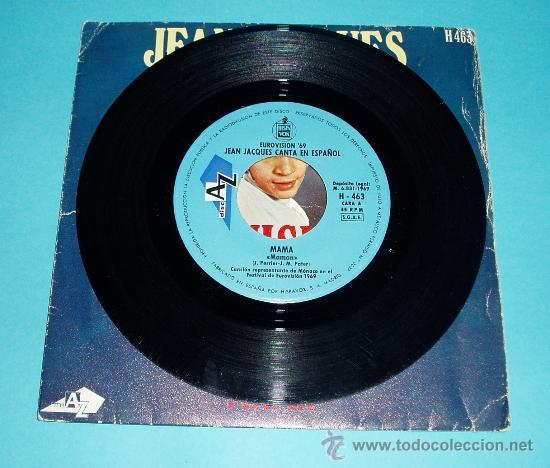 Discos de vinilo: JEAN JACQUES. CANTA EN ESPAÑOL MAMA. FESTIVAL DE EUROVISIÓN 1969 - Foto 2 - 25939756