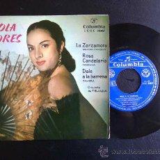 Discos de vinilo: LOLA FLORES, LA ZARZAMORA - EP ESPAÑOL. Lote 25947896