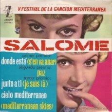 Discos de vinilo: EP-SALOME-ZAFIRO 462. Lote 25952057