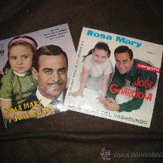Discos de vinilo: JOSE GUARDIOLA Y ROSA MARY 2 EP ORIGINALES DI PAPA EMI 1962 LA BALADA DEL V.1963 VERGARA. Lote 25954106