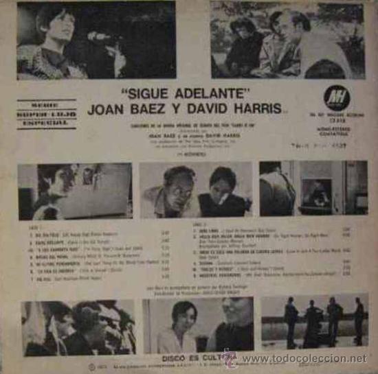 Discos de vinilo: LP argentino de Joan Baez año 1971 copia promocional - Foto 2 - 27343654