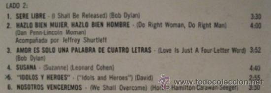 Discos de vinilo: LP argentino de Joan Baez año 1971 copia promocional - Foto 4 - 27343654