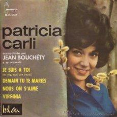 Discos de vinilo: EP-PATRICIA CARLI-IBEROFON 5069. Lote 26037204
