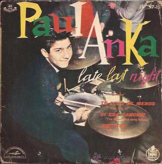 EP-PAUL ANKA-HISPAVOX 9715 (Música - Discos de Vinilo - EPs - Rock & Roll)