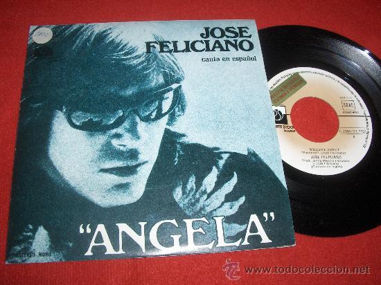 """JOSE FELICIANO ANGELA/WILLFUL STRUT 7"""" SINGLE 1976 PRIVATE STOCK PROMO (Música - Discos - Singles Vinilo - Solistas Españoles de los 50 y 60)"""