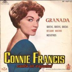 Discos de vinilo: EP-CONNIE FRANCIS-HISPAVOX 05713. Lote 26082484