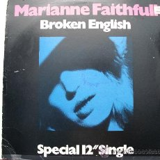 Discos de vinilo: MARIANNE FAITHFULL - BROKEN ENGLISH (MAXI) 1979. Lote 27469293
