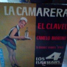 Discos de vinilo: LOS 4 BARMANS / LA CAMARERA - CAMELO MORUNO ,..../ 1963. Lote 39762419