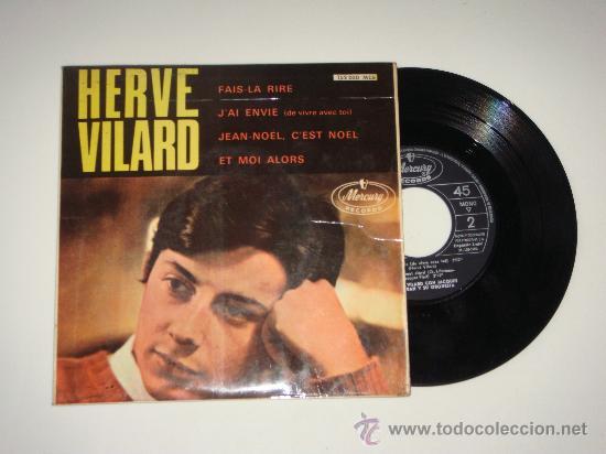 VINILO EP DE HERVÉ VILARD (Música - Discos de Vinilo - EPs - Canción Francesa e Italiana)