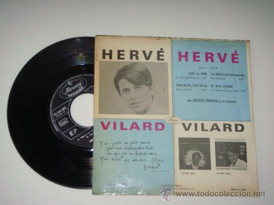 Discos de vinilo: vinilo ep de hervé vilard - Foto 2 - 26182990