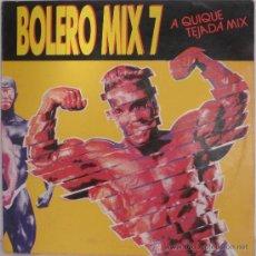 Discos de vinilo: BOLERO MIX 7 - A QUIQUE TEJADA MIX (LP) 1990 - DISCOGRAFICA BLANCO Y NEGRO MUSIC.. Lote 26205663