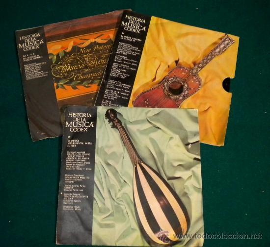 LOTE 3 SINGLES DE HISTORIA DE LA MUSICA CODEX - 1965 (Música - Discos - Singles Vinilo - Clásica, Ópera, Zarzuela y Marchas)