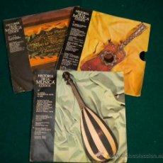 Discos de vinilo: LOTE 3 SINGLES DE HISTORIA DE LA MUSICA CODEX - 1965. Lote 26257178