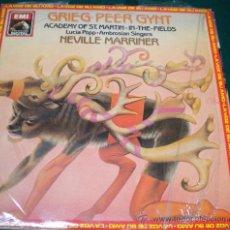 Discos de vinilo: GRIEG PEER GYNT - ACADEMY OF ST. MARTIN - INTHE FIELDS - LA VOZ DE TU AMO 1983. Lote 26257792