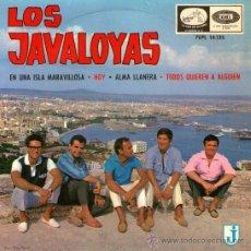 Discos de vinilo: LOS JAVALOYAS - EP SINGLE VINILO 7'' - EDITADO EN ESPAÑA - EN UNA ISLA MARAVILLOSA + 3 - AÑO 1965.. Lote 26260448