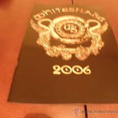 Discos de vinilo: WHITESNAKE - LIBRO DE GIRA 2006- HARD ROCK- DEEP PURPLE - GOOD TO BE BAD - 1987 -SLIP OF THE TONGUE. Lote 26266996