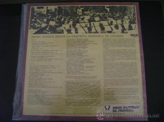 Discos de vinilo: HENRY MANCINI - ORQUESTA SINFONICA DE LONDRES LP - Foto 2 - 26272122