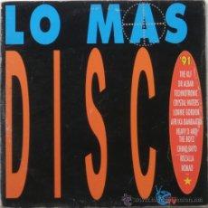 Discos de vinilo: LO MAS DISCO (2 LP) 1991 - DISCO DANCE - (2 DISCOS). Lote 26276196