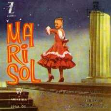 Discos de vinilo: MARISOL - EP SINGLE VINILO 7'' - EDITADO EN ESPAÑA - ALEGRÍAS + 3 - ZAFIRO 1961. Lote 26277520