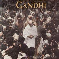 Discos de vinilo: GANDHI LP BANDA SONORA ORIGINAL MUSICA RAVI SHANKAR GEORGE FENTON PORTADA DOBLE SPA RCA. Lote 26277544
