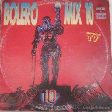 Discos de vinilo: BOLERO MIX 10 (2 LP) - 1994 - MIXTED BY QUIQUE TEJADA - ( 2 DISCOS ). Lote 26280868