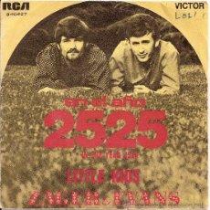 Discos de vinilo: ZAGER Y EVANS -SINGLE EN EL AÑO 2525. Lote 26284854
