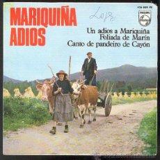 Discos de vinilo: CORAL FOLLAS NOVAS EP MARIQUIÑA ADIOS 1966. Lote 26293359
