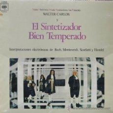Discos de vinilo: EL SINTETIZADOR BIEN TEMPERADOWALTER CARLOSCBS1970. Lote 26330747