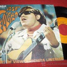 """Discos de vinilo: JOSE FELICIANO POINT OF VIEW/WICHITA LINEMAN 7"""" SINGLE 1970 RCA . Lote 26339979"""