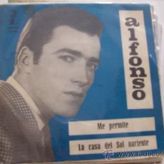 Discos de vinilo: ALFONSO - ME PERMITE-LA CASA DEL SOL NACIENTE SG THE ANIMALS. Lote 26341750